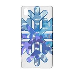 Snowflake Blue Snow Snowfall Sony Xperia Z3+
