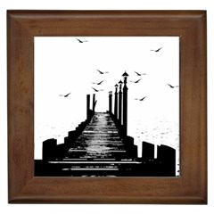 The Pier The Seagulls Sea Graphics Framed Tiles
