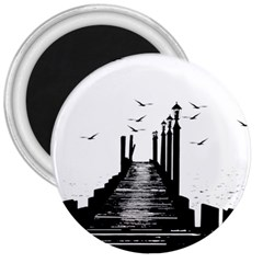 The Pier The Seagulls Sea Graphics 3  Magnets