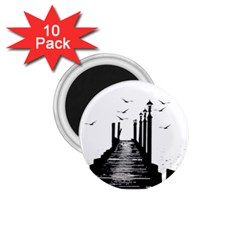 The Pier The Seagulls Sea Graphics 1 75  Magnets (10 Pack)