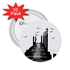 The Pier The Seagulls Sea Graphics 2.25  Buttons (10 pack)