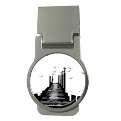 The Pier The Seagulls Sea Graphics Money Clips (round)