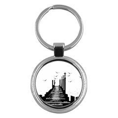 The Pier The Seagulls Sea Graphics Key Chains (Round)