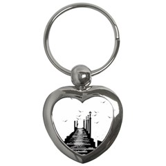 The Pier The Seagulls Sea Graphics Key Chains (Heart)