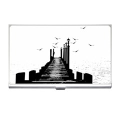 The Pier The Seagulls Sea Graphics Business Card Holders