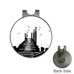 The Pier The Seagulls Sea Graphics Hat Clips With Golf Markers