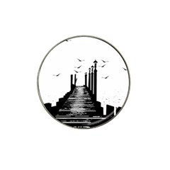 The Pier The Seagulls Sea Graphics Hat Clip Ball Marker (4 Pack)