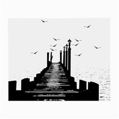 The Pier The Seagulls Sea Graphics Small Glasses Cloth