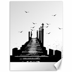 The Pier The Seagulls Sea Graphics Canvas 36  X 48