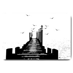The Pier The Seagulls Sea Graphics Large Doormat