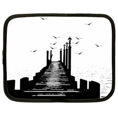 The Pier The Seagulls Sea Graphics Netbook Case (large)