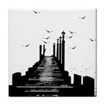 The Pier The Seagulls Sea Graphics Face Towel Front