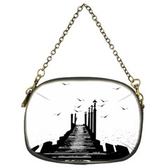 The Pier The Seagulls Sea Graphics Chain Purses (two Sides)
