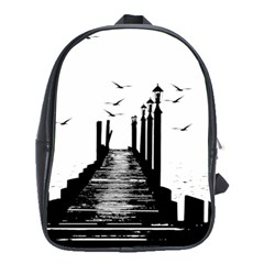 The Pier The Seagulls Sea Graphics School Bags(large)