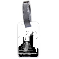 The Pier The Seagulls Sea Graphics Luggage Tags (two Sides)