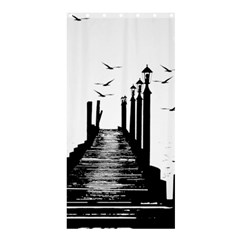 The Pier The Seagulls Sea Graphics Shower Curtain 36  X 72  (stall)