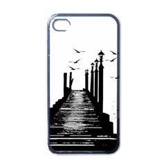 The Pier The Seagulls Sea Graphics Apple Iphone 4 Case (black)