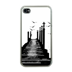 The Pier The Seagulls Sea Graphics Apple Iphone 4 Case (clear)