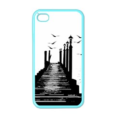 The Pier The Seagulls Sea Graphics Apple Iphone 4 Case (color)
