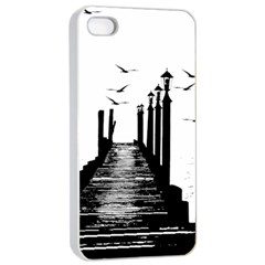 The Pier The Seagulls Sea Graphics Apple Iphone 4/4s Seamless Case (white)