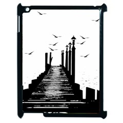 The Pier The Seagulls Sea Graphics Apple Ipad 2 Case (black)