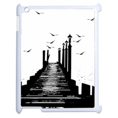 The Pier The Seagulls Sea Graphics Apple Ipad 2 Case (white)