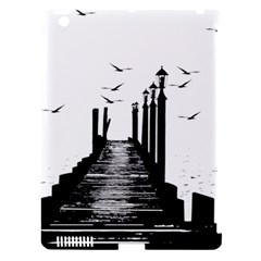 The Pier The Seagulls Sea Graphics Apple iPad 3/4 Hardshell Case (Compatible with Smart Cover)