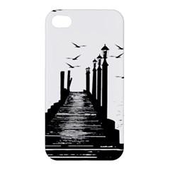 The Pier The Seagulls Sea Graphics Apple Iphone 4/4s Premium Hardshell Case