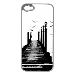 The Pier The Seagulls Sea Graphics Apple Iphone 5 Case (silver)