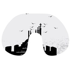 The Pier The Seagulls Sea Graphics Travel Neck Pillows