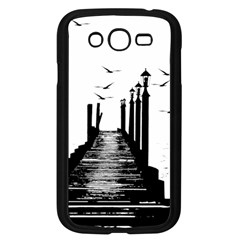 The Pier The Seagulls Sea Graphics Samsung Galaxy Grand Duos I9082 Case (black)