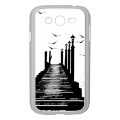 The Pier The Seagulls Sea Graphics Samsung Galaxy Grand Duos I9082 Case (white)