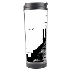The Pier The Seagulls Sea Graphics Travel Tumbler