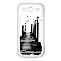 The Pier The Seagulls Sea Graphics Samsung Galaxy S3 Back Case (white)