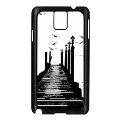The Pier The Seagulls Sea Graphics Samsung Galaxy Note 3 N9005 Case (black)