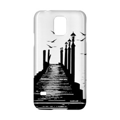 The Pier The Seagulls Sea Graphics Samsung Galaxy S5 Hardshell Case