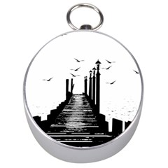 The Pier The Seagulls Sea Graphics Silver Compasses
