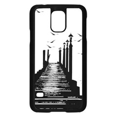 The Pier The Seagulls Sea Graphics Samsung Galaxy S5 Case (black)