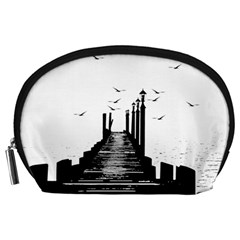 The Pier The Seagulls Sea Graphics Accessory Pouches (large)