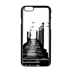 The Pier The Seagulls Sea Graphics Apple Iphone 6/6s Black Enamel Case