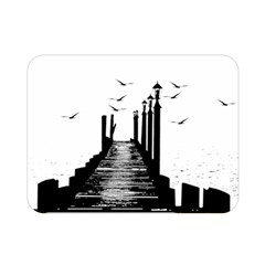 The Pier The Seagulls Sea Graphics Double Sided Flano Blanket (mini)