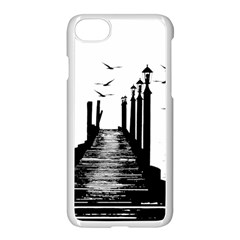 The Pier The Seagulls Sea Graphics Apple Iphone 7 Seamless Case (white)