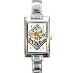 Vector Icon Symbol Sign Design Rectangle Italian Charm Watch