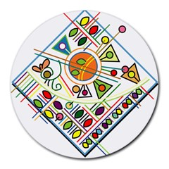 Vector Icon Symbol Sign Design Round Mousepads