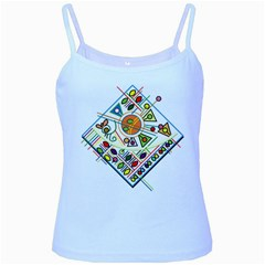 Vector Icon Symbol Sign Design Baby Blue Spaghetti Tank