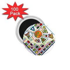 Vector Icon Symbol Sign Design 1 75  Magnets (100 Pack)