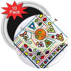 Vector Icon Symbol Sign Design 3  Magnets (10 Pack)
