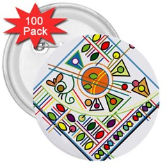 Vector Icon Symbol Sign Design 3  Buttons (100 pack)