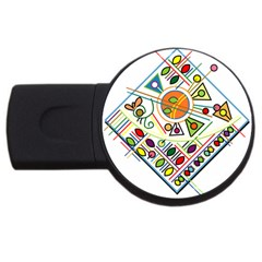 Vector Icon Symbol Sign Design USB Flash Drive Round (1 GB)