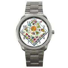 Vector Icon Symbol Sign Design Sport Metal Watch